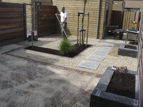 Tuin Met Grind : Strakke tuin met grind